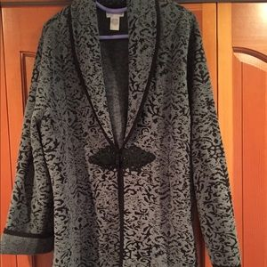 Chenille sweater jacket beautiful pattern 1X